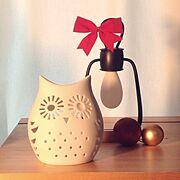 ふくろう/キャンドル/クリスマス/IKEA/雑貨/Lounge…などのインテリア実例