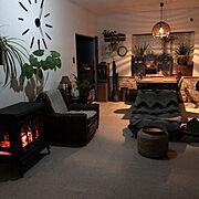 カフェ風/ディスプレイ/レトロ/グリーンのある暮らし/観葉植物/アジアンリゾート風に憧れる…などのインテリア実例