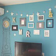 加工なしの写真/折り紙の星多すぎ/アルファベットオブジェ/IKEAがたくさん♪/カラフルな部屋…などのインテリア実例