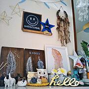 レジンのくまちゃん♡/2018.5.19/コメントお構いなく♡/T.N.Mちゃんの星オブジェ☆/smileアロマストーン♡…などのインテリア実例