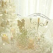 クリスマスツリー/カスミ草/白の世界/白のちから/白がすき/妖精さん…などのインテリア実例