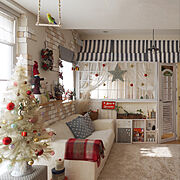 DIY/クリスマスディスプレイ/カフェ風インテリア/手作りインテリア/ナチュラルフレンチ…などのインテリア実例