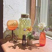 ガーデン雑貨/おはようございます/庭に咲いた花/漆喰壁DIY/RCに感謝/見てくれてありがとう♡…などのインテリア実例