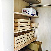 DIY/IKEA/押入れ棚/My Shelf…などのインテリア実例