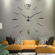 ステッカー/時計/壁/ウォールクロック/Lounge…などのインテリア実例