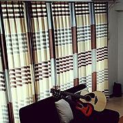 marimekko/マリメッコ/イデアコ/楽器のある部屋/ギター/北欧…などのインテリア実例