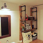 Daily RoomClip/定点観測/DIY/男前/コンテスト初参加/塩ビ管…などのインテリア実例