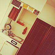 雑貨/賃貸/一人暮らし/ダイソー/100均/キッチン収納…などのインテリア実例