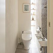 トイレ/インテリア/タイル/広島/LIXIL/Bathroom…などのインテリア実例