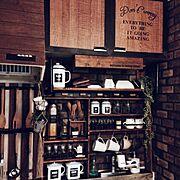 キッチンカウンター/DIY/DIY食器棚/バーカウンター/夜更かし隊/Kitchen…などに関連する他の写真