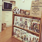 RoomClipStyle/Come home!/ブックシェルフ/ブックシェルフ DIY…などのインテリア実例