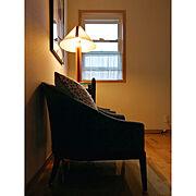 2階廊下スペース/夕方の風景/ナチュラルインテリア/北欧/アートのある暮らし/ランプ…などのインテリア実例