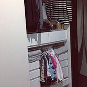 パジャマ収納のインテリア実例写真