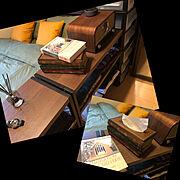 レトロ/一人暮らし/ティッシュケース/雑貨/My Shelf…などのインテリア実例
