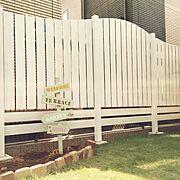 DIY/ウッドフェンス/キシラデコール/アンティークレンガ/ガーデンサイン/Entrance…などのインテリア実例