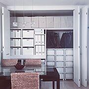 ニトリ インボックス/白のチカラ/収納アイデア/ニトリ/IKEA/収納…などのインテリア実例