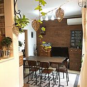 葉っぱ/建売の家/壁紙屋本舗/昭和レトロ/壁紙/古道具…などのインテリア実例