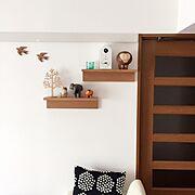 リビング/My Shelf/ブログやってます♪/マリメッコ/marimekko/クッション…などのインテリア実例