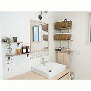 LIXIL/かご/かご収納/タイル/Bathroom…などのインテリア実例