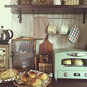 ダイソー/セリア/リメイク/DIY/パン/ピザ釜のかわり…などのインテリア実例