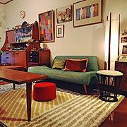 クッション/こけし/民芸品/北欧ヴィンテージ家具/古道具/Pacific furniture service…などのインテリア実例