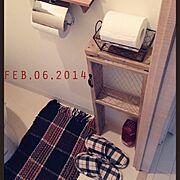 リメイク/DIY/ダイソー/100均/マット/Bathroom…などのインテリア実例
