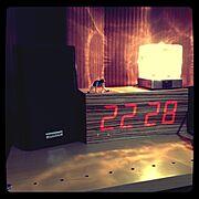 時計/照明/My Shelf…などのインテリア実例