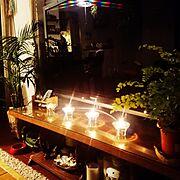 テレビ台/観葉植物/アジアンタム/植物/Lounge…などのインテリア実例