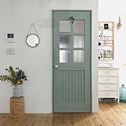 花のある暮らし/お花/海外インテリアに憧れる/IKEA/ミモザ/木製ドア…などのインテリア実例