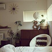 ベットルーム/ジョージ・ネルソン/Bedroom/レクリント/NO GREEN NO LIFE/寝室…などのインテリア実例