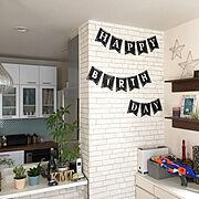 食器棚/リメイク/DIY/くらしのeショップ/山善/ブレッドケース…などのインテリア実例