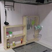 百均/ダイニングキッチン/ツーバイフォー/DIY/スパイスラック/Kitchen…などのインテリア実例