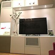 Lounge/IKEA/IKEA テレビボード/どうだんツツジ/ZARA HOME/フランフラン…などのインテリア実例