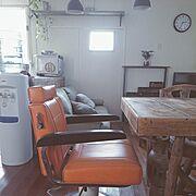 ダイニングテーブル/椅子/昭和レトロ/レトロ/中古住宅/理容椅子…などのインテリア実例
