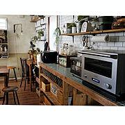 ブログよかったら見てみて下さい♩/IG⇨maca_home/オーブンレンジ/バルミューダのある暮らし…などのインテリア実例