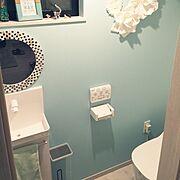 3Coins/Panasonic/Francfranc/アクセントクロス/トイレ…などのインテリア実例