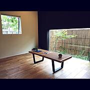 LIXIL/アクセントクロス/和モダン/ネルソンベンチ/地窓/壁/天井…などのインテリア実例