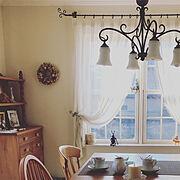 ローラアシュレイ&アンティーク家具のインテリア実例写真