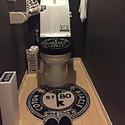 DIY/ステンシル/雑貨/モノトーン/セリア/Bathroom…などのインテリア実例