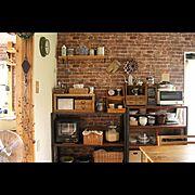 セルフリフォーム/手作り家具/My Shelf…などのインテリア実例