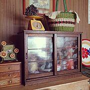 古道具/レトロモダン/古い家具/買い物かご/琺瑯/ホーロー…などのインテリア実例