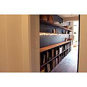 サンワカンパニー/本棚/無印良品/フィリップスLED 照明/無印良品のある暮らし/北欧…などのインテリア実例