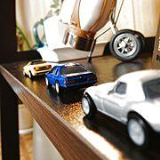 車のミニチュアのインテリア実例写真