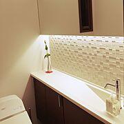 コンテスト用に再投稿/エコカラット/トイレ/ホテルライク/間接照明/Bathroom…などのインテリア実例