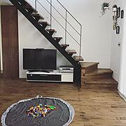 階段 DIY のインテリア実例写真
