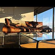 グランピング気分/ガラス張り/アイアン家具/ブランケット/Lounge…などのインテリア実例
