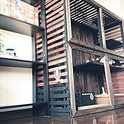 キャットケージ/猫のお家もかっこよく♡/IKEA/セリア/ワトコオイル/手作り…などのインテリア実例