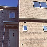 アンティーク/れんが/レンガ外壁/ラフレンガ/玄関/玄関扉…などのインテリア実例