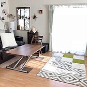 Lounge/サンコー/東リファブリックフロア/ニトリ/ダイソー/建売住宅…などのインテリア実例