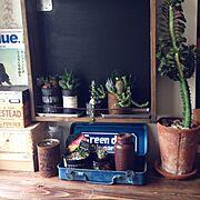 工具箱/いつかのBlue./タニサボ/ユーフォルビア/NO GREEN NO LIFE/男前めざしたい…などのインテリア実例